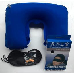 Комплектиз надувной подушки,маски и берушей Крокус