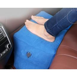 Двухслойная надувная подушка под ноги в самолет или авто